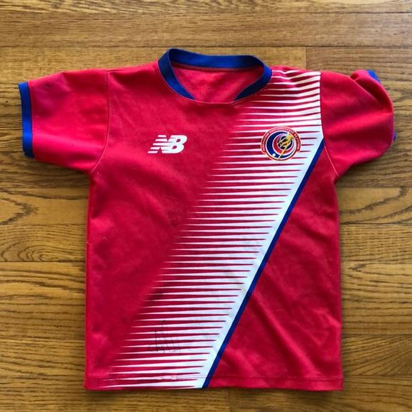 hot sale online ac9f2 e661e New Balance Kids Costa Rica National Team Jersey
